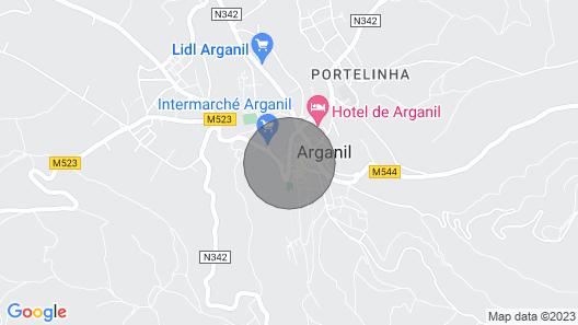 Vacation Home Near Serra da Estrela, River Beaches Map