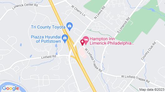 Hampton Inn Limerick, PA Map