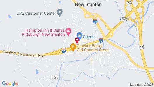 Days Inn by Wyndham New Stanton PA Map