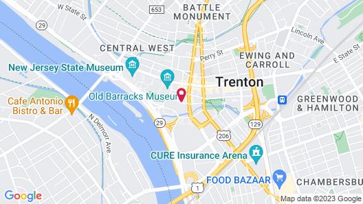 Lafayette Park Hotel and Suites, Trenton/Princeton, NJ Map