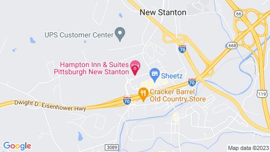 Hampton Inn & Suites Pittsburgh New Stanton PA Map