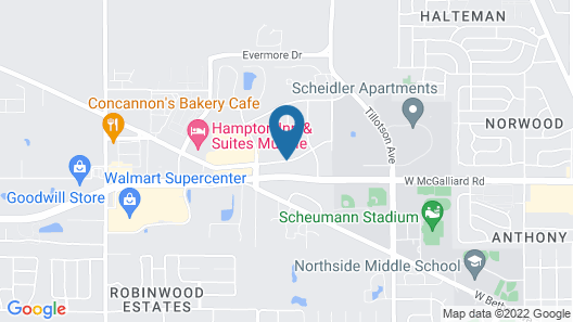 Super 8 by Wyndham Muncie/Ball St. College Area Map