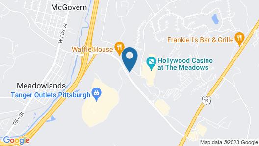 Hampton Inn & Suites Pittsburgh-Meadow Lands Map