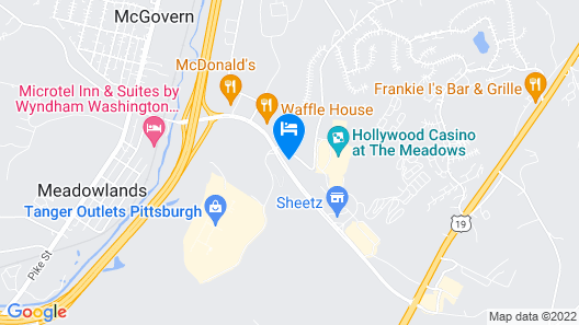 Hampton Inn & Suites Pittsburgh-Meadow Lands Map
