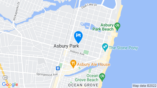 Elegance & Comfort 4.5 Blocks to Asbury Park Beach Map