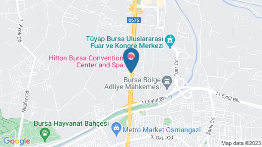 Hilton Bursa Convention Center & Spa Map
