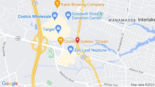 Super 8 by Wyndham Asbury Park Map
