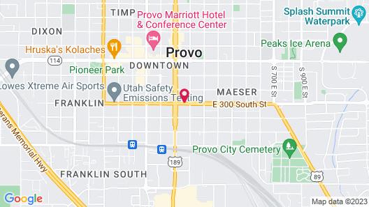 Provo Travelers Inn Map