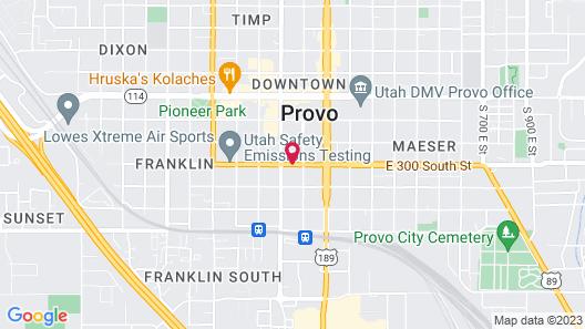 Provo Inn & Suites Provo Map