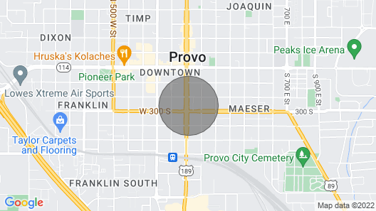 DT Provo, King Bed, Byu, Hot Tub, W/D Map