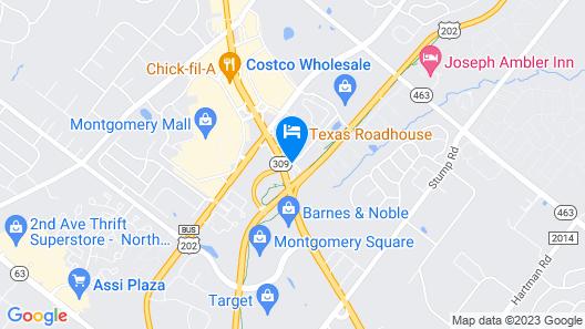 Staybridge Suites Montgomeryville Map