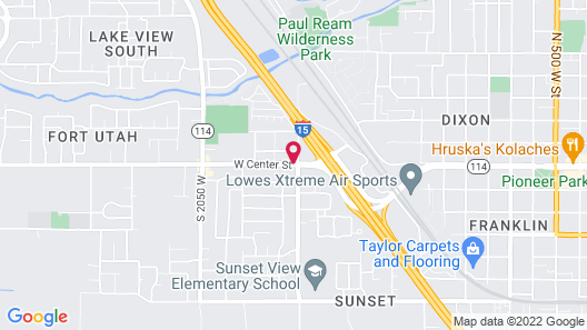 Americas Best Value Inn & Suites Provo Map