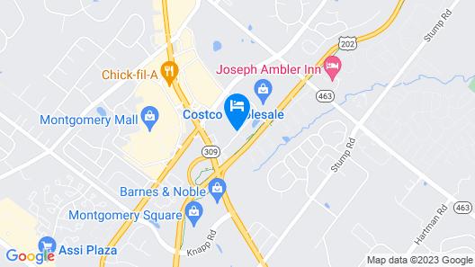 Hampton Inn & Suites Philadelphia Montgomeryville, PA Map
