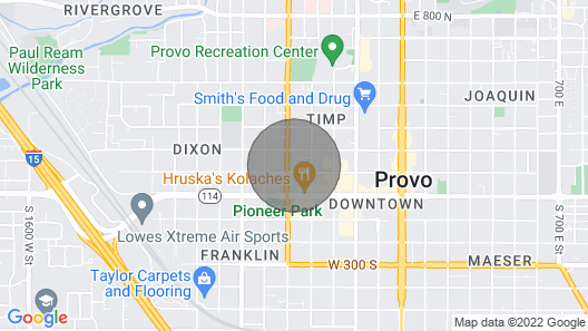 Luxury Accomodations in 1920's Bungalow in Downtown Provo Map