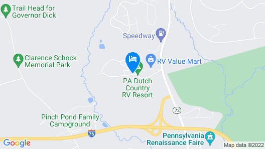 PA Dutch Country RV Resort - Caravan Park Map