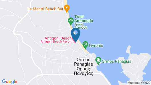 Antigoni Beach Resort Map