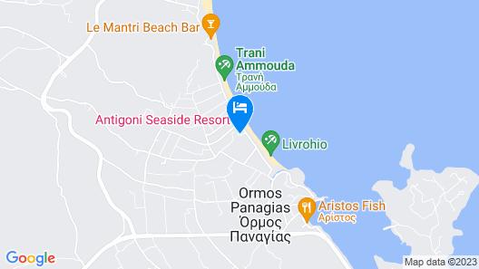 Antigoni Beach Resort Map