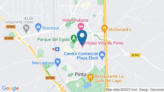 Hotel Villa de Pinto Map