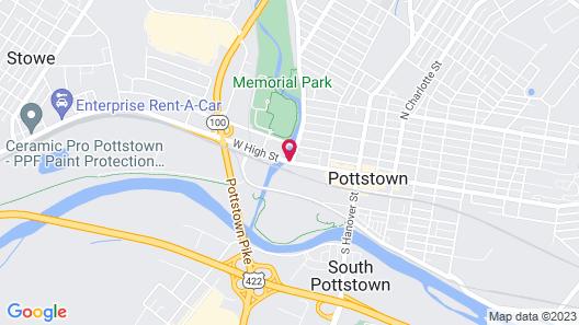 Americas Best Value Inn Pottstown Map