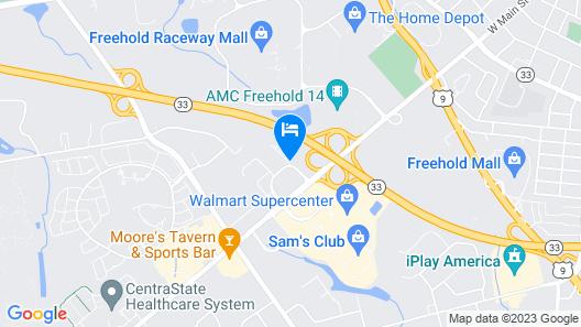 Radisson Hotel Freehold Map