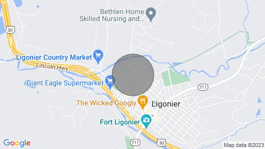 Ligonier Family Home - 3 Miles to Idlewild! Map