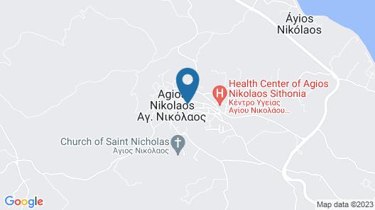 Snug Apartment in Agios Nikolaos With Garden Map