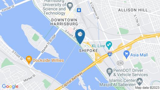 Quality Inn Riverfront Map