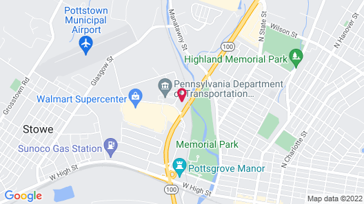 The Hotel at Pottstown Map