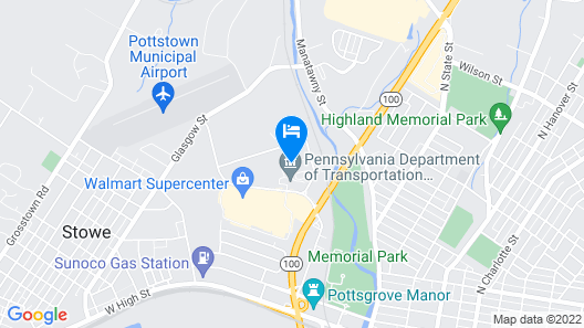 Motel 6 Pottstown, PA Map