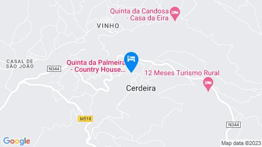 Quinta da Palmeira - Country House Retreat & Spa Map