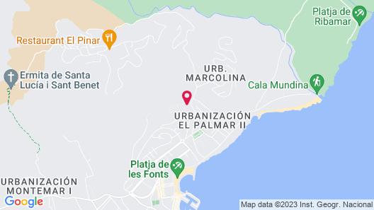 Apartamentos Palma Blanca 3000 Map