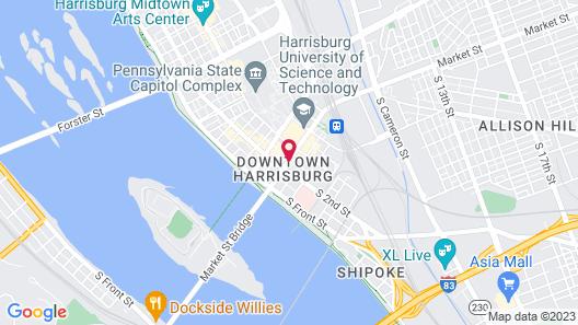 Hilton Harrisburg Map