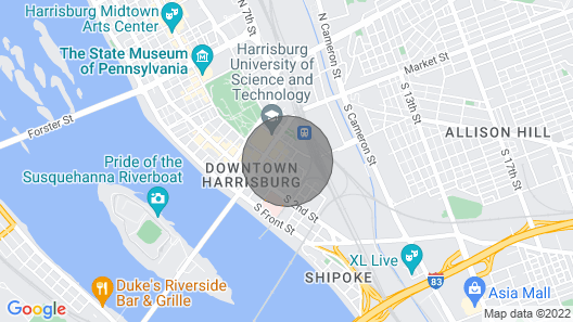 Artist Enclave in Downtown Harrisburg Map