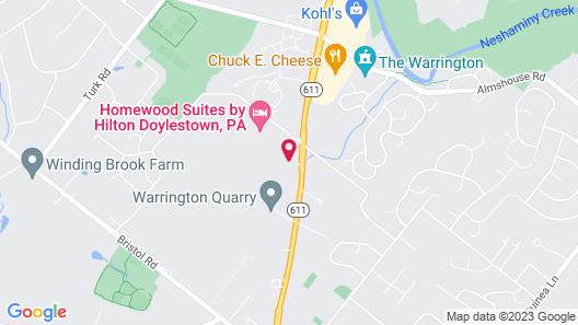 Hampton Inn Doylestown Map