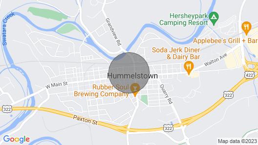 3 Miles to Hersheypark - Crickie's Corner Map