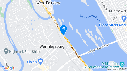 Rodeway Inn Wormleysburg - Harrisburg Map
