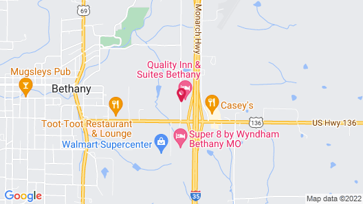 Quality Inn & Suites Bethany Map