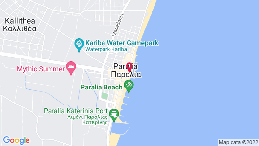 Paralia Beach Boutique Hotel Map