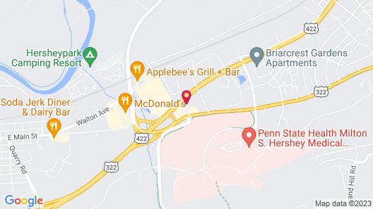 HersheyScape Inn Map