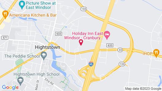 Quality Inn East Windsor - Princeton Map