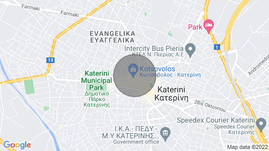 Luxurious Apartment Central Katerini, With View!! Map