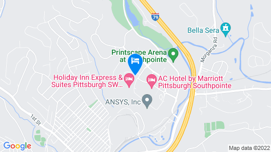 Homewood Suites by Hilton Pittsburgh Southpointe Map