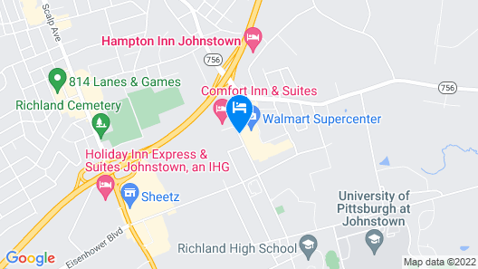 Sleep Inn Johnstown Map