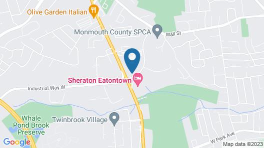 Sheraton Eatontown Hotel Map