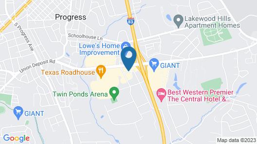 Holiday Inn Express - Harrisburg East Map