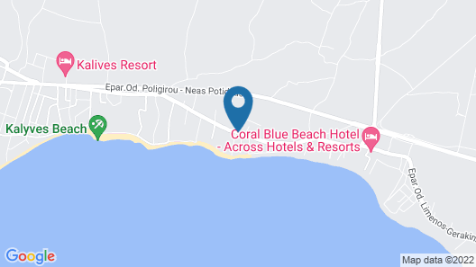 Alkinoos Beach Hotel Map