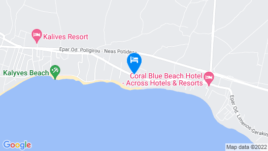 Alkinoos Beach Hotel Map