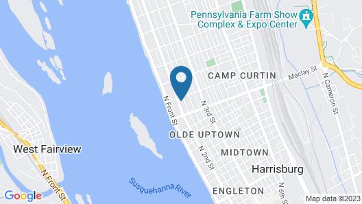 Uptown Harrisburg Flat Map