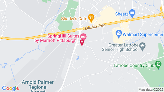 SpringHill Suites Pittsburgh Latrobe Map