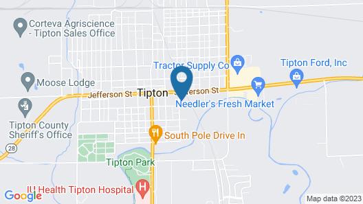 East Street Inn & Suites Tipton Map